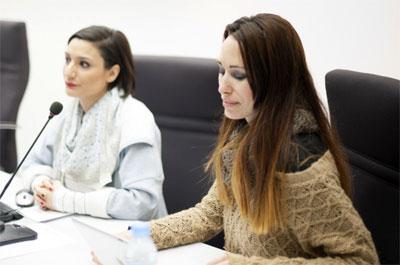Enma Sancho y Cristina Palacios